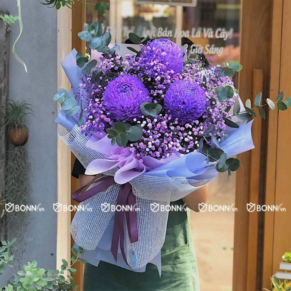 bo hoa cu mau don tim min
