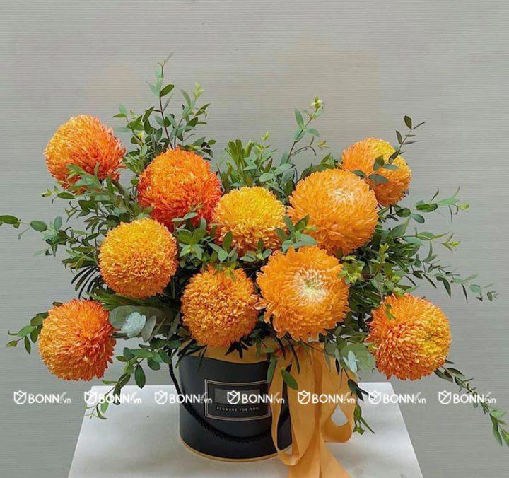 hộp hoa cúc mẫu đơn min