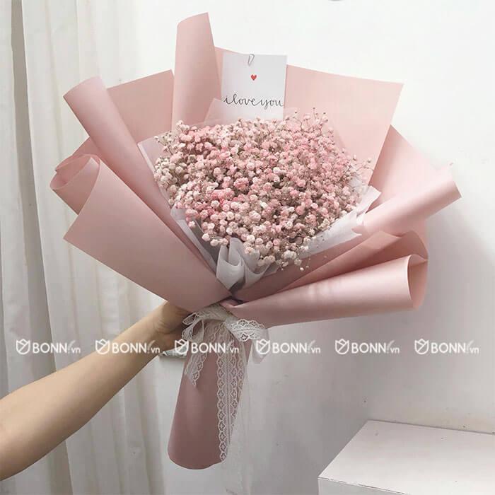 bo hoa baby hong size mini