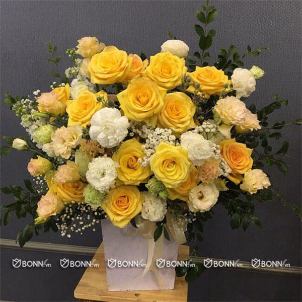 lang hoa dep tone vang tanh sinh nhat