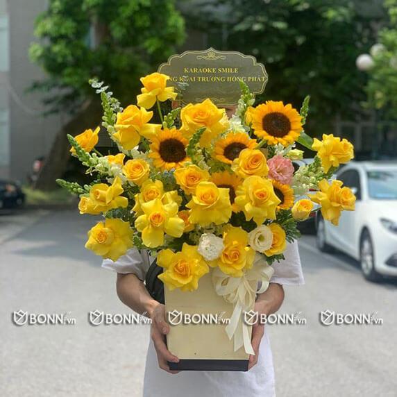lang hoa dep tone vang