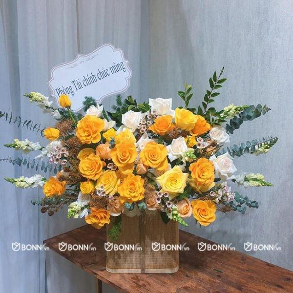 lang hoa dep vang cam
