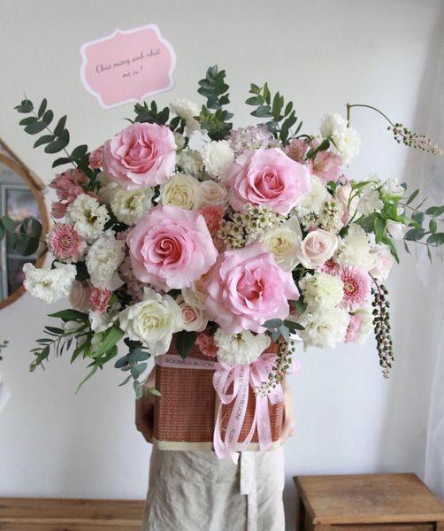 Lang hoa cao cap tone hong