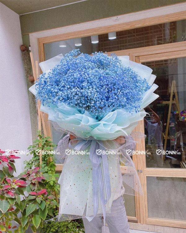 bo hoa baby xanh sieu to
