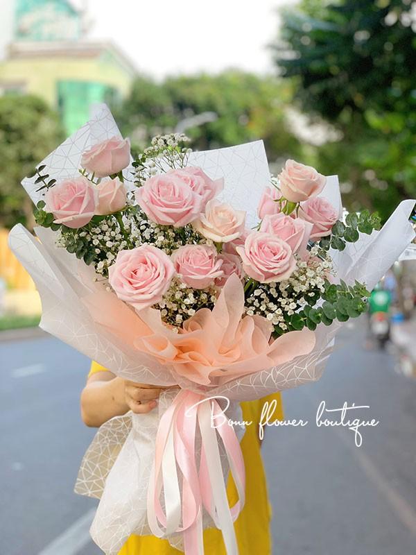 bo hoa dep hong kem
