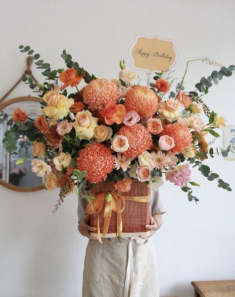 lang hoa cuc mau don tone cam