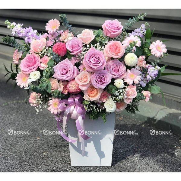 lang hoa dep tone tim