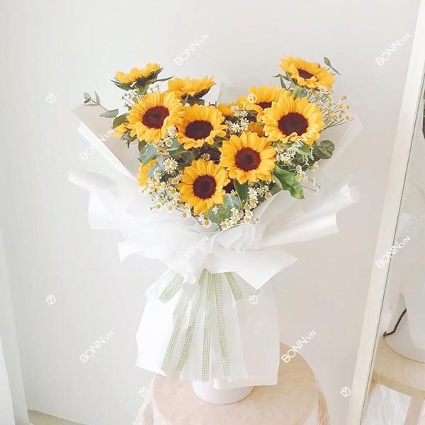 bo hoa huong duong dep
