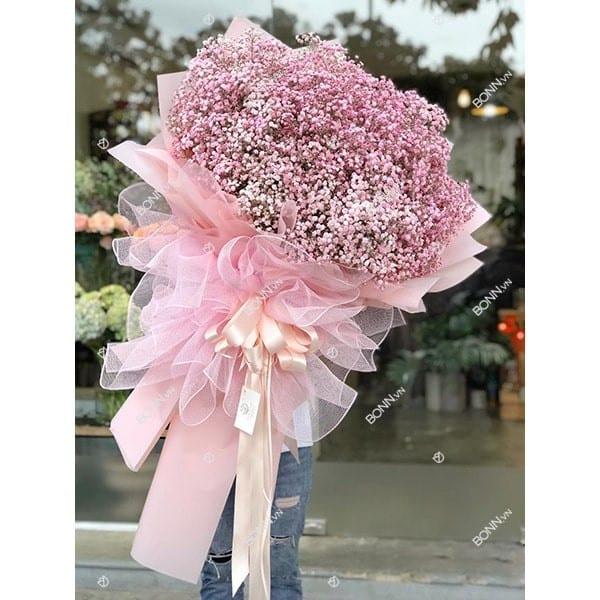 bo hoa baby hong romantic