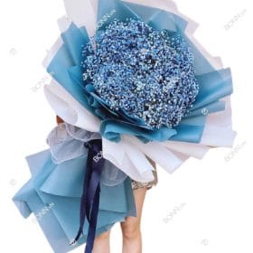bo hoa baby xanh duong